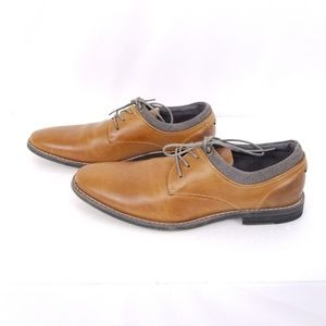 Seven 91 Mens Donestan Oxford Shoes Brown Lace Up